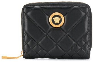 Versace quilted Medusa logo wallet