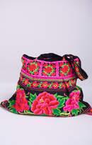 MUMU Pippa Woven Carryall Bag ~ Pink/Black