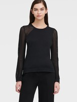 DKNY Sweater With Mesh Sleeves