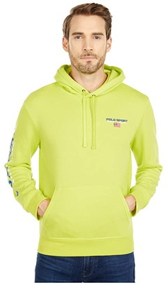 Polo Ralph Lauren Hooded Fleece Sweatshirt (Blaze Knockout Pink) Men's Clothing