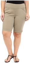Jag Jeans Plus Size Ainsley Classic Fit Bermuda in Hazelnut Bay Twill