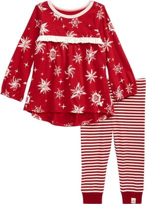 Burt's Bees Baby Snowflakes Organic Cotton Tunic & Leggings Set