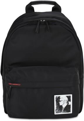 Karl Lagerfeld Paris Legend Nylon Backpack