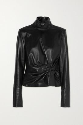 16Arlington Yukie Knotted Leather Top - Black