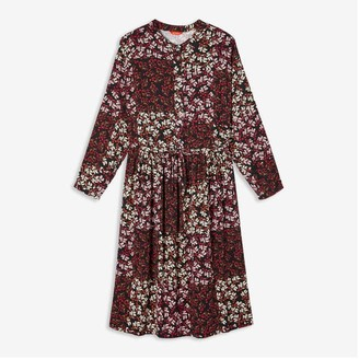 Joe Fresh Women+ Mandarin Collar Shirt Dress, Print 3 (Size 2X)