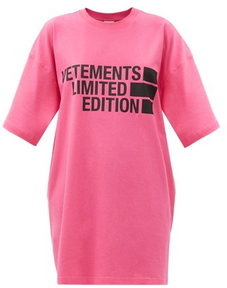 Vetements Oversized Limited Edition-print Cotton T-shirt - Pink