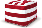 Indo Soul St. Tropez Square Ottoman, Red