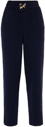 American Vintage Cropped Gathered Crepe Straight-leg Pants
