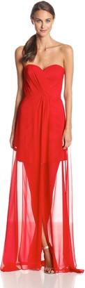 Erin Fetherston Erin Women's Gisele Strapless Illusion Hem Evening Gown