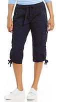 Calvin Klein Rib Waist Band Convertible Cargo Capri Pants