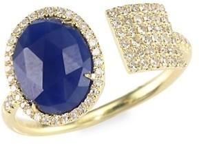 Meira T Sapphire, Diamond & 14K Yellow Gold Wrap Ring