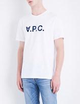 A.P.C. Logo-detail cotton-jersey T-shirt