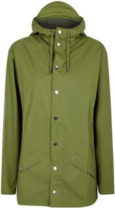 Rains Green Rubberised Raincoat