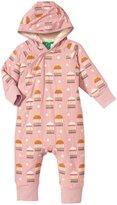 Little Green Radicals Golden Bird Cages Snowsuit (Baby) - Pink-0-3 Months
