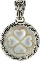 John Hardy Mother-of-Pearl Carved Clover Pendant Enhancer