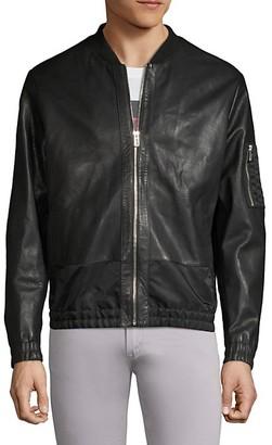 HUGO BOSS Larrson Slim-Fit Leather Bomber Jacket