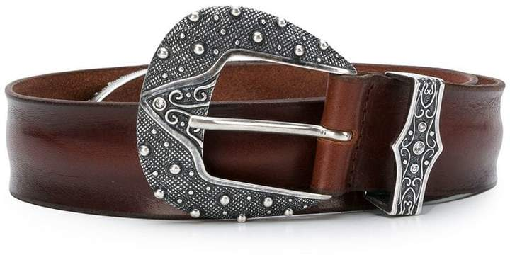 Orciani engraved buckle belt