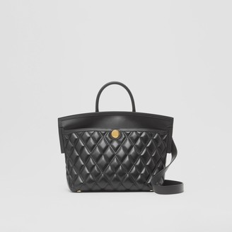 Burberry Small Quilted Lambskin Society Top Handle Bag
