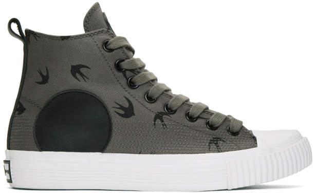 McQ Grey Plimsoll High Sneakers