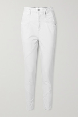 Isabel Marant Nadeloisa Paneled High-rise Tapered Jeans - White