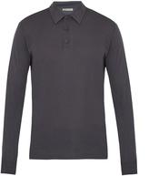 Bottega Veneta Long-sleeved cotton-blend jersey polo shirt