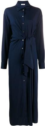 P.A.R.O.S.H. Long Tie-Waist Shirt Dress