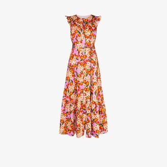 Borgo de Nor Gabriella fruit print maxi dress