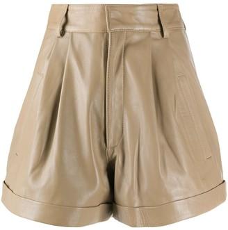 Manokhi Jett leather shorts