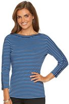Chaps Petite Striped Boatneck Tee