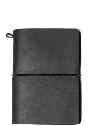 Mr Fox Handmade Passport-Size Black Leather Traveler's Notebook