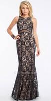 Camille La Vie Two Tone Lace Illusion Dress