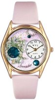 Whimsical Watches Women's C0910012 Classic Gold Birthstone: December Pink Leather And Goldtone Watch
