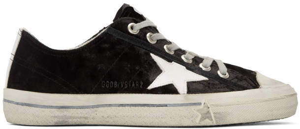 Golden Goose Black Velvet Superstar Sneakers