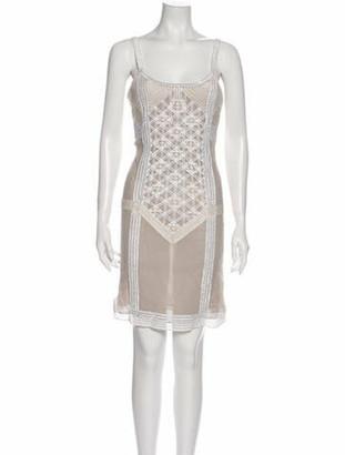 Fendi Silk Mini Dress Grey