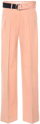 Victoria Victoria Beckham Mid-rise wide-leg wool pants