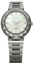 Jowissa Women's J1.169.M Soletta Automatic Mother-of-Pearl Dial Tungsten Bracelet Date Watch