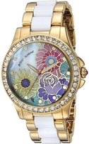 Betsey Johnson BJ00246-15 - Floral Print Face Watches