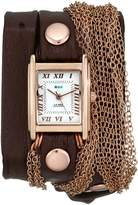 La Mer Women's LMDUO1002 Brown Rose Gold Rio Rose Gold Bracelet Wrap Watch