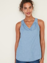 Old Navy Chambray V-Neck Tank Top for Women