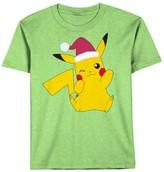 Boys 8-20 Pokemon Pikachu Santa Tee