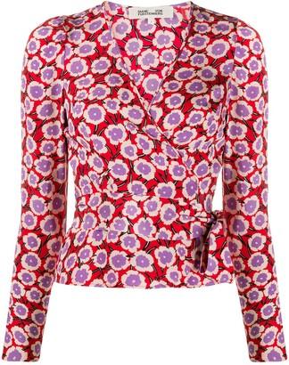 Dvf Diane Von Furstenberg wrap front Alexia blouse