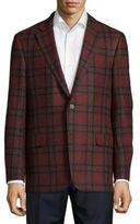 Hickey Freeman Plaid Wool Blazer