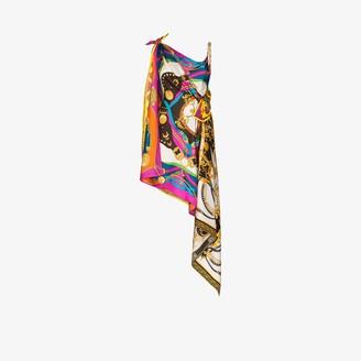 Versace Rodeo Pop Print Asymmetric Mini Dress