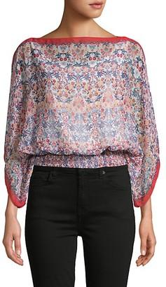 Max Studio Printed Kimono Top