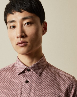 Ted Baker FLYNOW Geo print cotton shirt