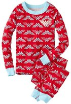 Kids DC ComicsTM Wonder Woman Glow In The Dark Long John Pajamas