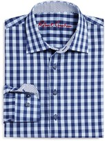 Robert Graham Boys' Kade Windowpane Dress Shirt