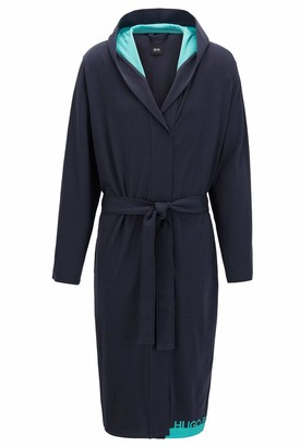 HUGO BOSS Men's Identity Hooded Gown Bathrobe