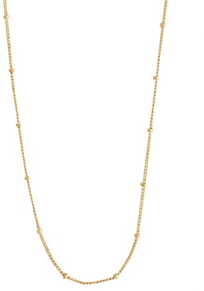 Wanderlust + Co Beaded Chain Gold Necklace