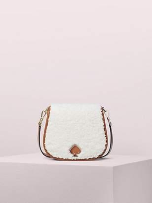 Kate Spade Suzy Fluffy Large Saddle Bag